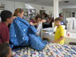 setting out the quilts