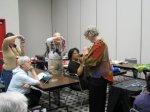 Colleen Davis and Improvisational knitting class begins