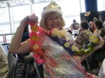 The Queen with her new Boa from the resale shop
