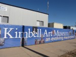 Banner around construction site at the Kimbell